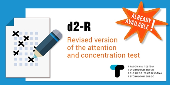 d2-R, a revised version of the attention and concentration test is already available!